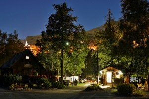 The campsite by night